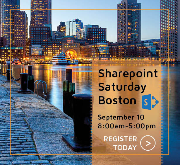 Sharepoint Saturday Boston with Versatile- Register Today!