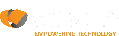 Versatile Logo White Company name float